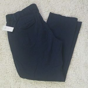 NWT Gap chino blue slacks uniform pants sz 10P